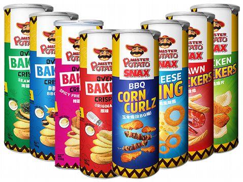 馬來西亞 MISTER POTATO 薯片先生 玉米條/起司風味圈/蝦味條/雞汁風味片/烘焙馬鈴薯風味餅(1罐入) 款式可選【小三美日】◢D404204