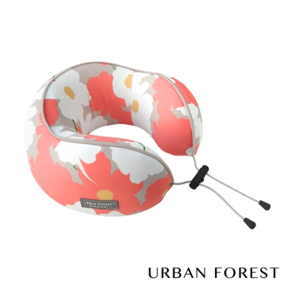 URBAN FOREST都市之森 花卷-旅行頸枕/午睡枕 虞美人