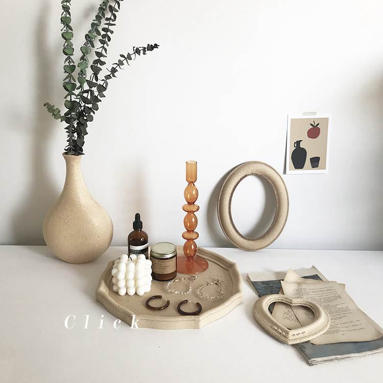 Click復古八角木質托盤首飾盤裝飾擺件素坯民宿ins風攝影拍照道具