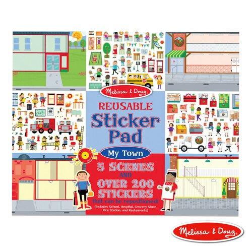 《美國 Melissa & Doug》 美勞 貼紙簿 可重複貼 我的社區 東喬精品百貨