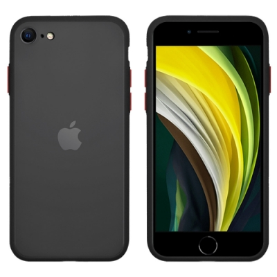 Metal-Slim Apple iPhone SE(第二代) 2020 時尚雙料軟邊手機硬殼