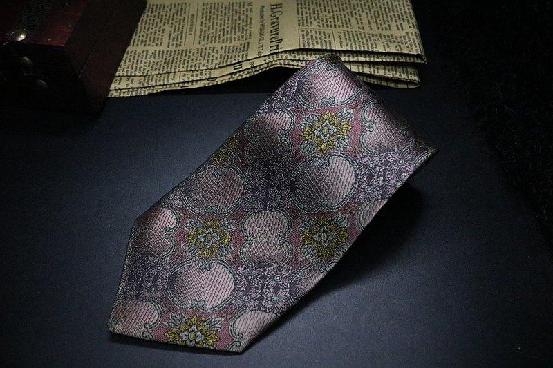 復古真絲花卉領帶/紳士正裝necktie