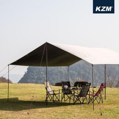 KAZMI KZM 不透光黑膠方型天幕L(含營柱)