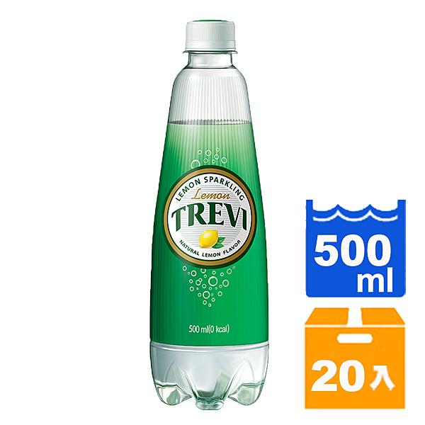 Lotte樂天氣泡水-檸檬500ml(20入)/箱 【康鄰超市】