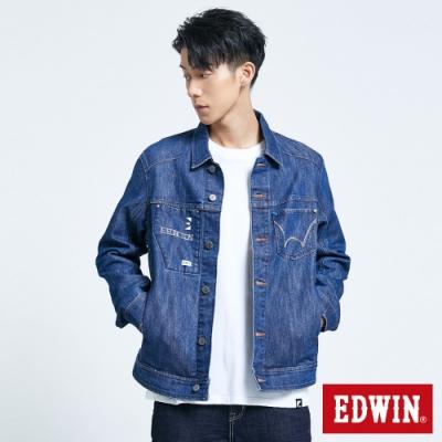 EDWIN E-FUNCTION 牛仔外套-男-原藍磨
