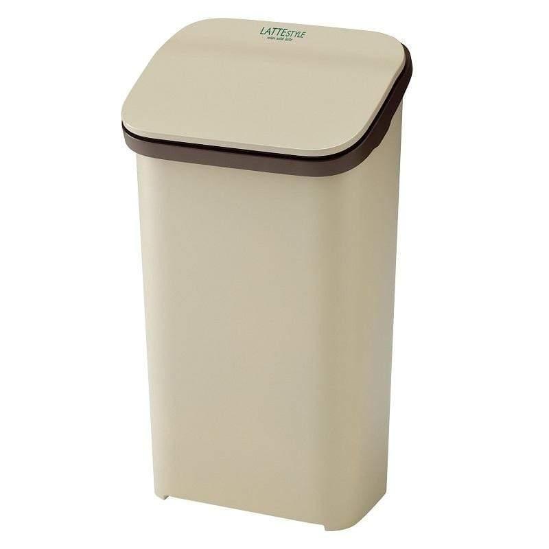 按壓式緩衝垃圾桶 Latte Style 系列 19L - 三色 棕色