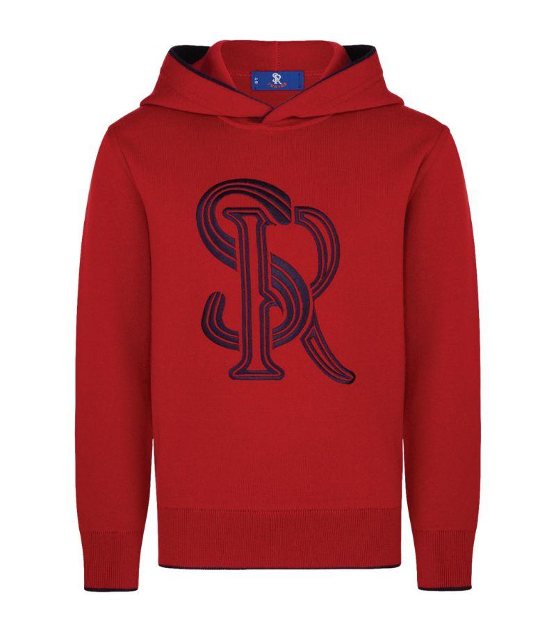 Stefano Ricci Kids Contrast Logo Hoodie (6-16 Years)