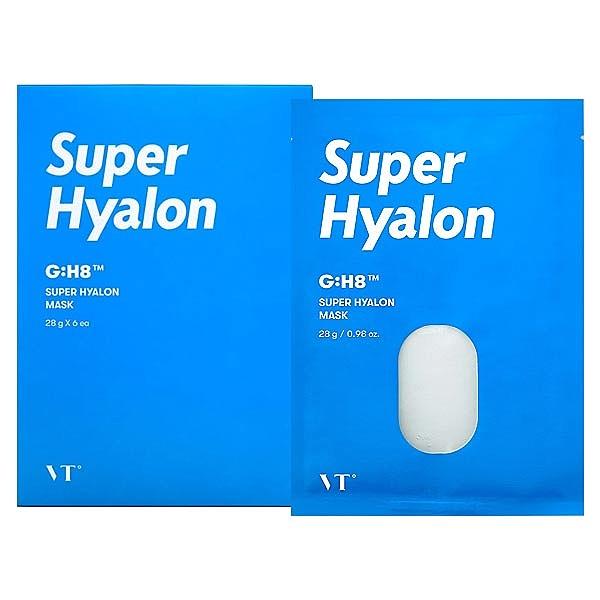 韓國 VT 超級玻尿酸面膜(28gx6片)盒裝【小三美日】