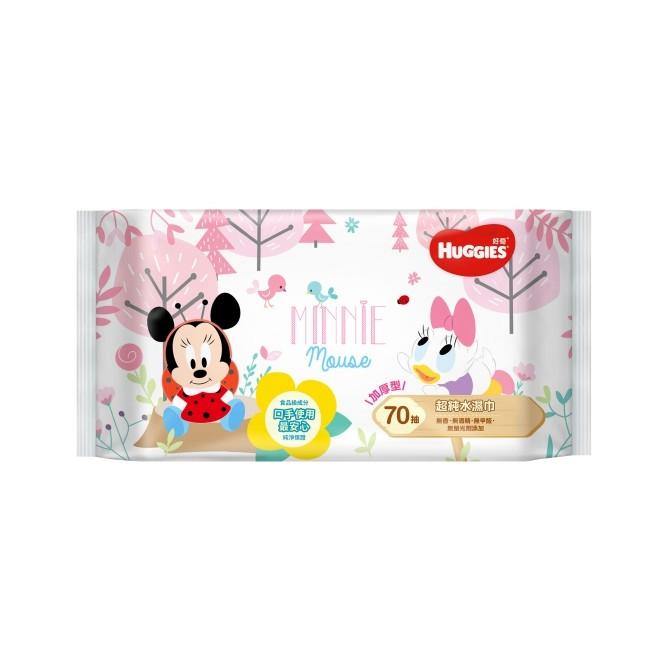 好奇純水嬰兒濕巾迪士尼限定版加厚型70抽18包箱
