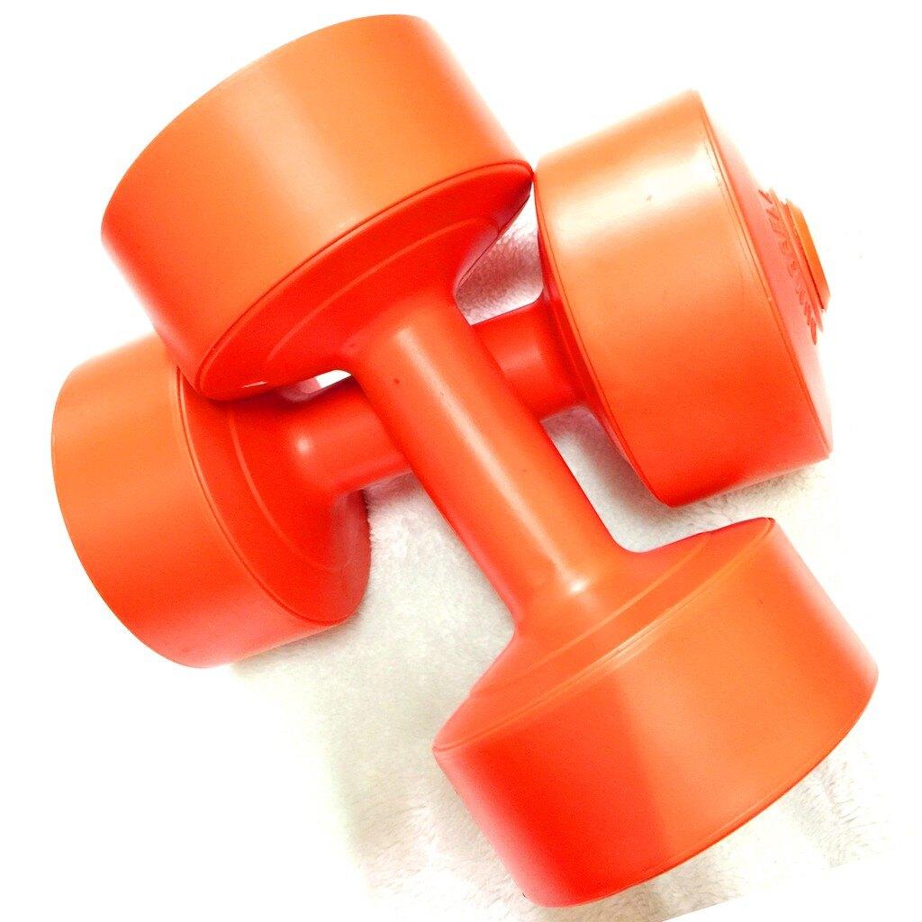【滿$3,000領券再折$250】3kg啞鈴 (亮橘色) 3公斤 有氧韻律運動適用㊣台灣製【Fitek健身網】
