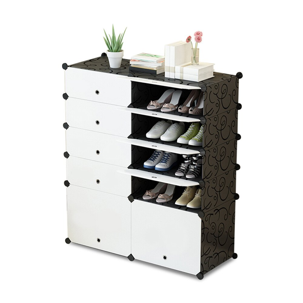 E&J【004005-01】Mr.Box 5層10門防塵鞋櫃/整理收納組合櫃