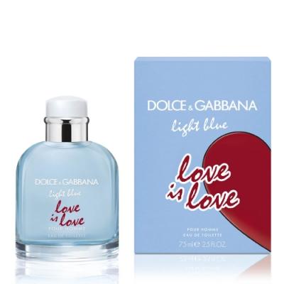 DOLCE & GABBANA D&G Light Blue淺藍男性淡香水75ml 示愛宣言限定版