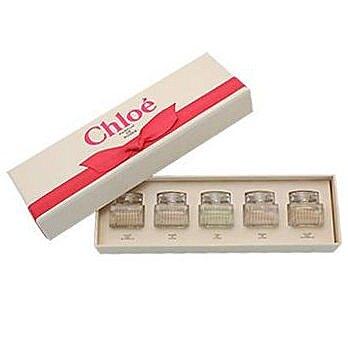 Chloe' 小香禮盒(紅蝴蝶結 經典同名淡香精/ roses玫瑰/ 水漾玫瑰 )5mlx5入【特惠】異國精品