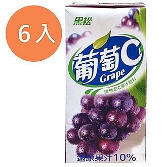 黑松葡萄C維他命C果汁飲料300ml(6入)/組【康鄰超市】
