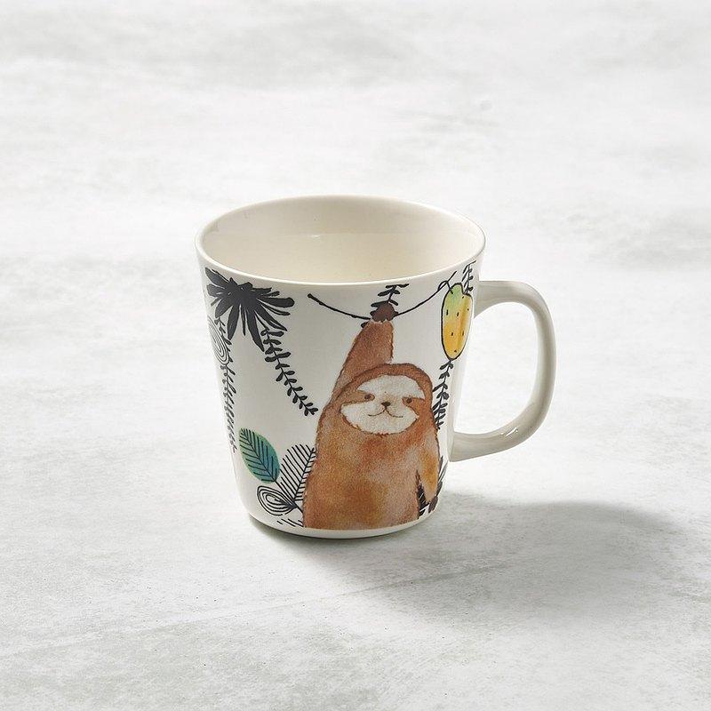 有種創意 - 日本美濃燒 - 萌之系列馬克杯-樹懶伸懶腰