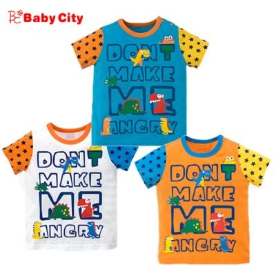 娃娃城BabyCity-恐龍字短袖上衣