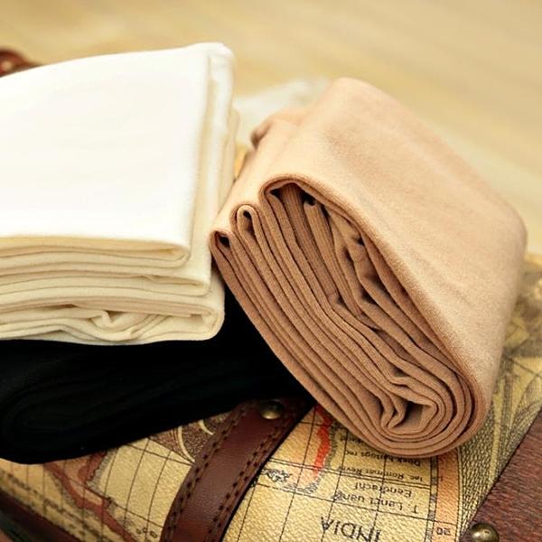 棉質連褲襪 春秋季120D舒適顯瘦純棉啞光防勾絲黑白色膚色絲襪子