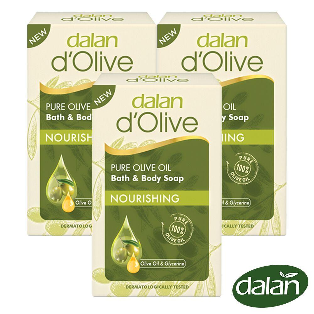 【土耳其dalan】頂級82%橄欖油滋養皂200g 3入組