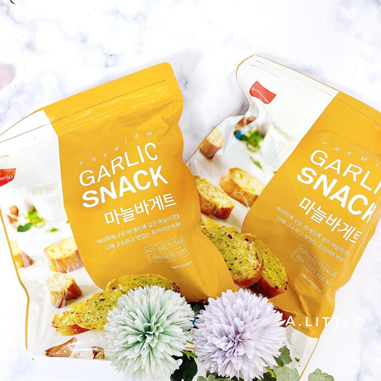 韓國 Samlip法式小麵包 蒜香 餅乾 (420g/袋)