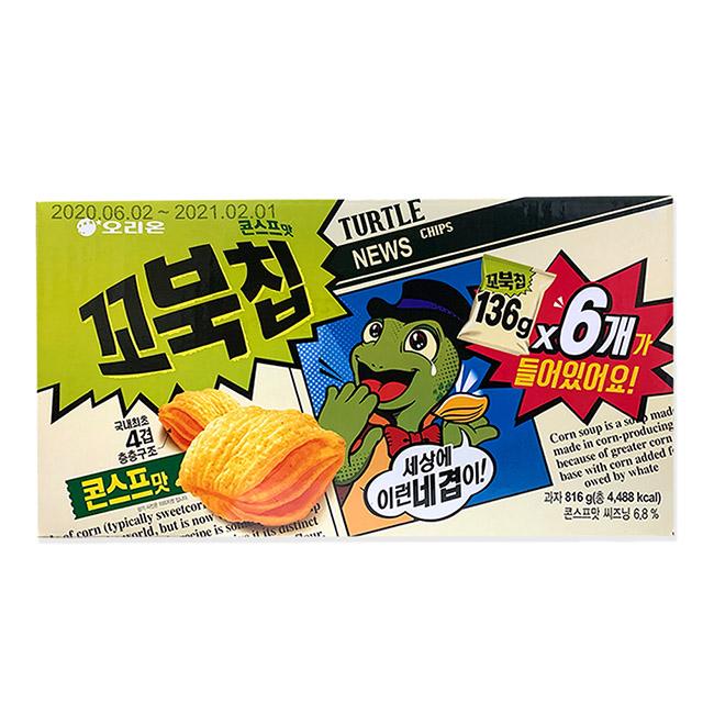 ORION 好麗友 烏龜玉米脆片 136公克X6包