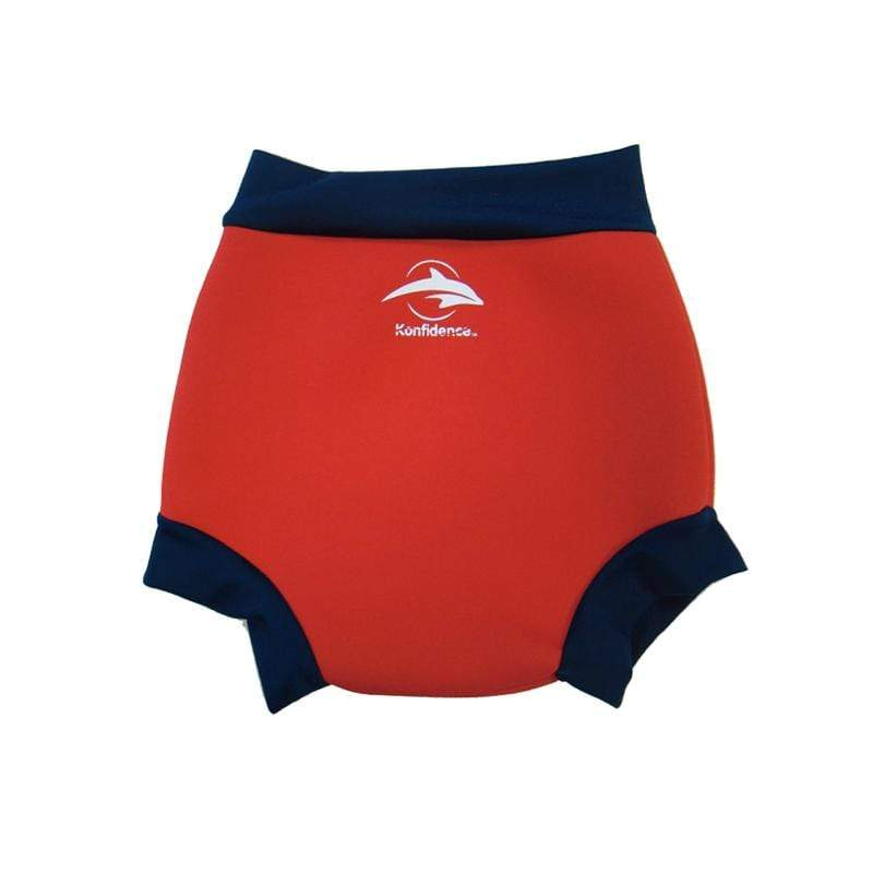 嬰幼兒游泳專用外層加強防漏尿布褲 - 紅/海軍藍 12-18mths