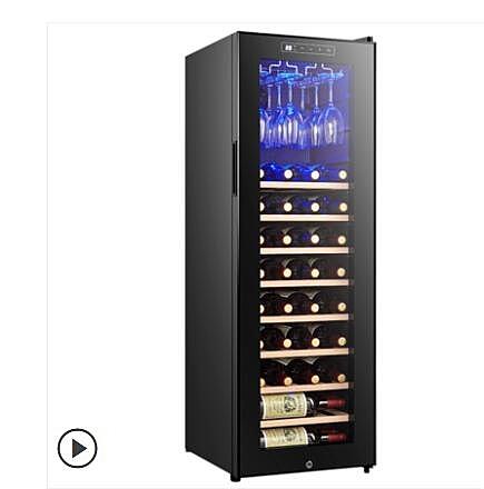 紅酒櫃 科蒂斯30支裝電子恒溫保濕紅酒櫃家用冰吧掛杯茶葉冷藏風冷櫃 城市科技DF