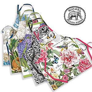 【MICHEL】英國進口 時尚圍裙(5種花色)貴氣牡丹