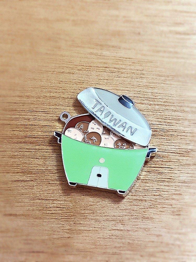 趣玩台灣磁鐵-電鍋茶葉蛋-綠