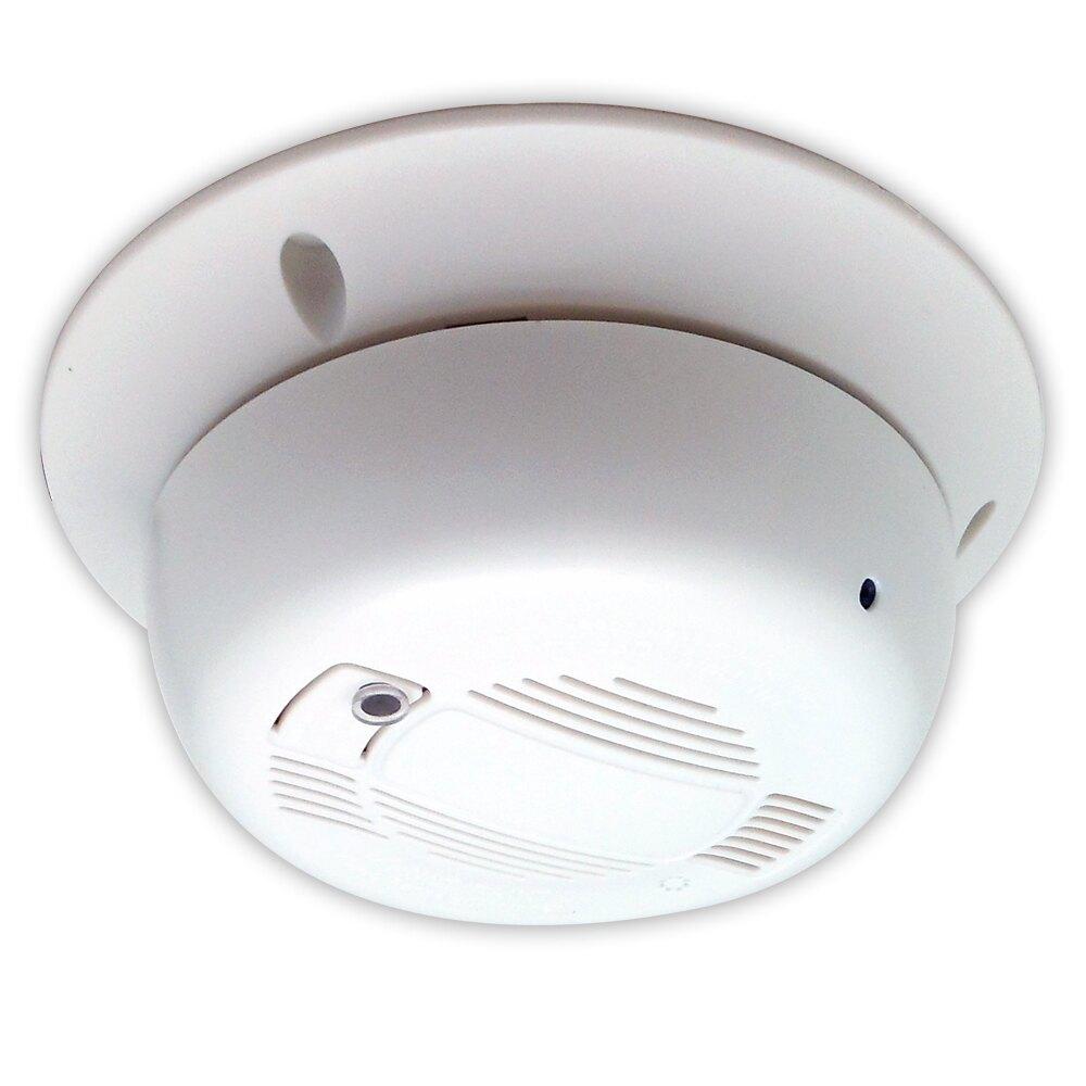 【CHICHIAU】AHD 1080P SONY 200萬數位類比雙模切換偽裝煙霧偵測器造型針孔監視器攝影機