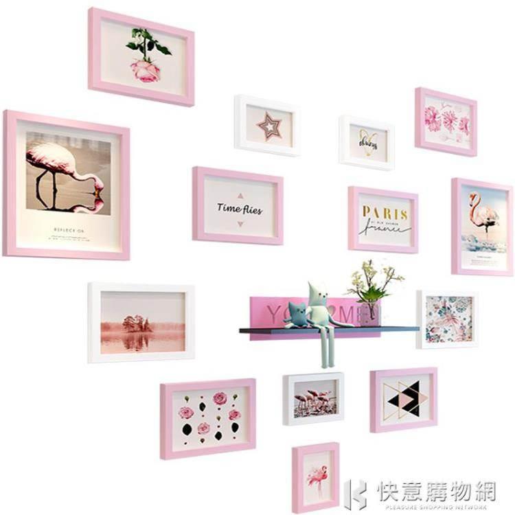 九宮格像櫃架相櫃掛牆十寸五10 7寸創意組合畫櫃擺臺照片牆相片櫃 NMS