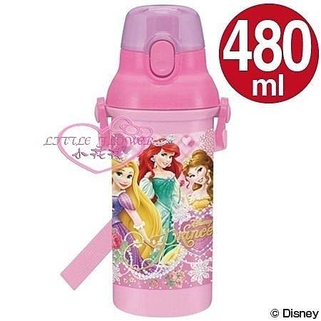 小花花日本精品 Disney 公主系列 耐熱140度 直飲式水壺 水瓶 可背式 480ml 日本製01003208