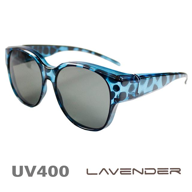 Lavender-偏光套鏡-韓版網紅款-豹紋藍-9437-近視/老花可戴