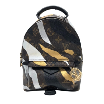 Louis Vuitton LVXLOL Palm Springs Mini 聯名後背包(咖)