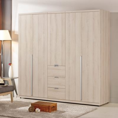 Homelike 樂妮6.7尺大衣櫃-205 x 57 x 202 公分
