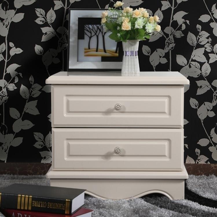 床頭櫃簡約現代白色烤漆簡歐式韓式臥室邊櫃收納櫃儲物櫃特價ATF 全館特惠9折