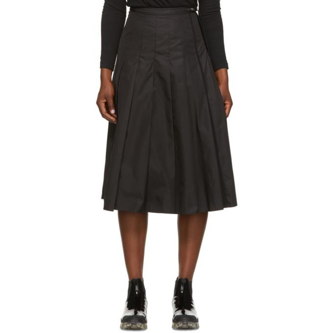 Moncler 黑色机能褶裥半身裙