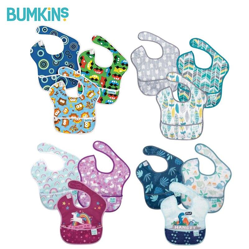 【Bumkins】防水防臭圍兜(3件組) 圍兜 口水巾-米菲寶貝