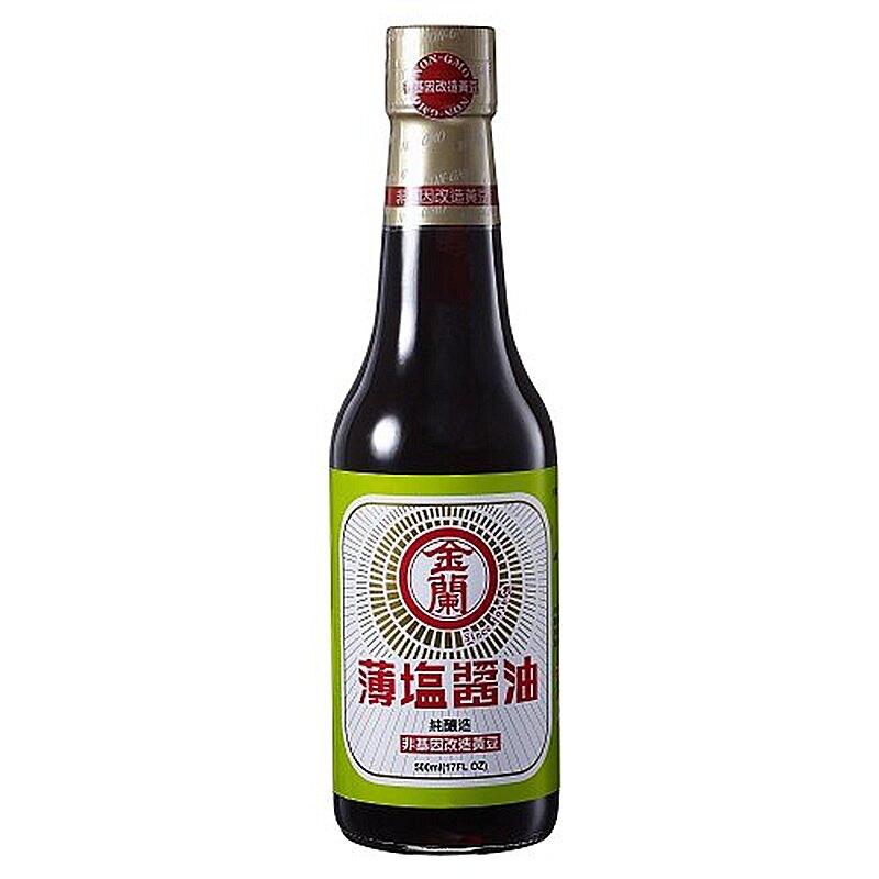 金蘭薄鹽醬油(純釀造)500ml【康鄰超市】