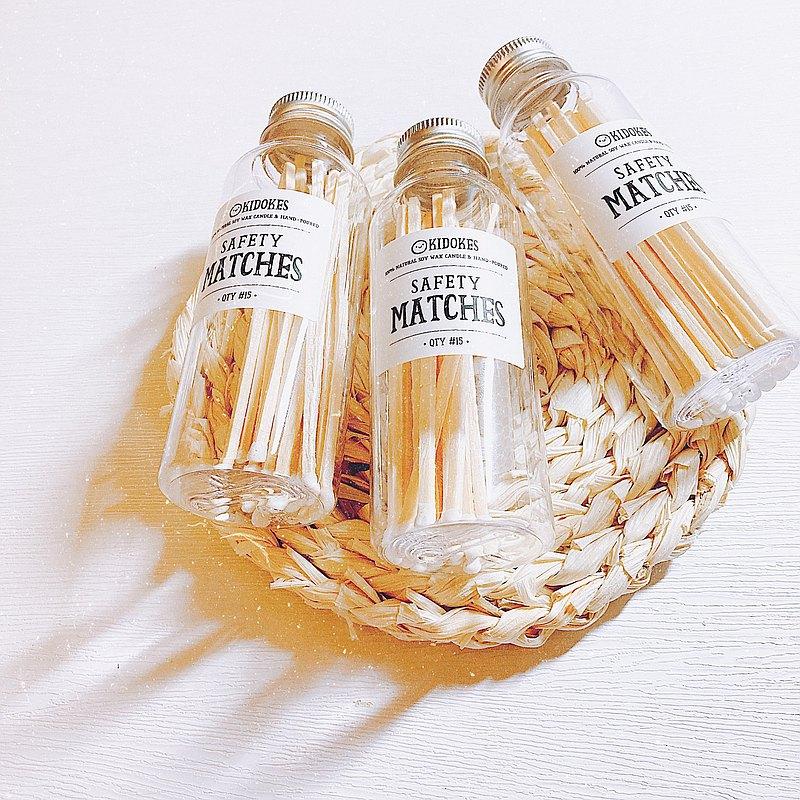 罐裝加長雪松木火柴 香氛蠟燭配件 婚禮小物