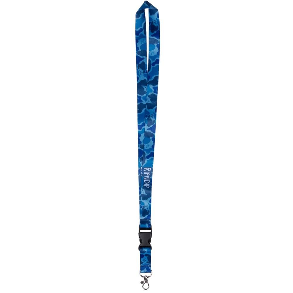 RIPNDIP NERM CAMO 掛繩 證件帶 吊帶 鑰匙扣 藍迷彩【A-KAY0】【RND3119BCAMO】