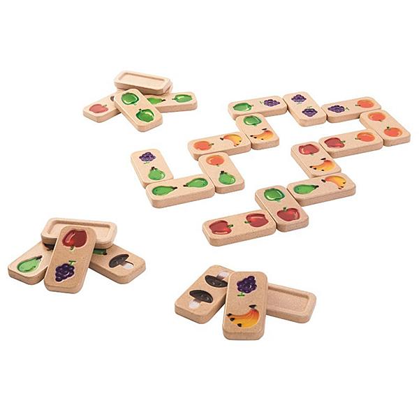 《 泰國 PLAN TOYS 》蔬果多米諾接接樂 / JOYBUS玩具百貨