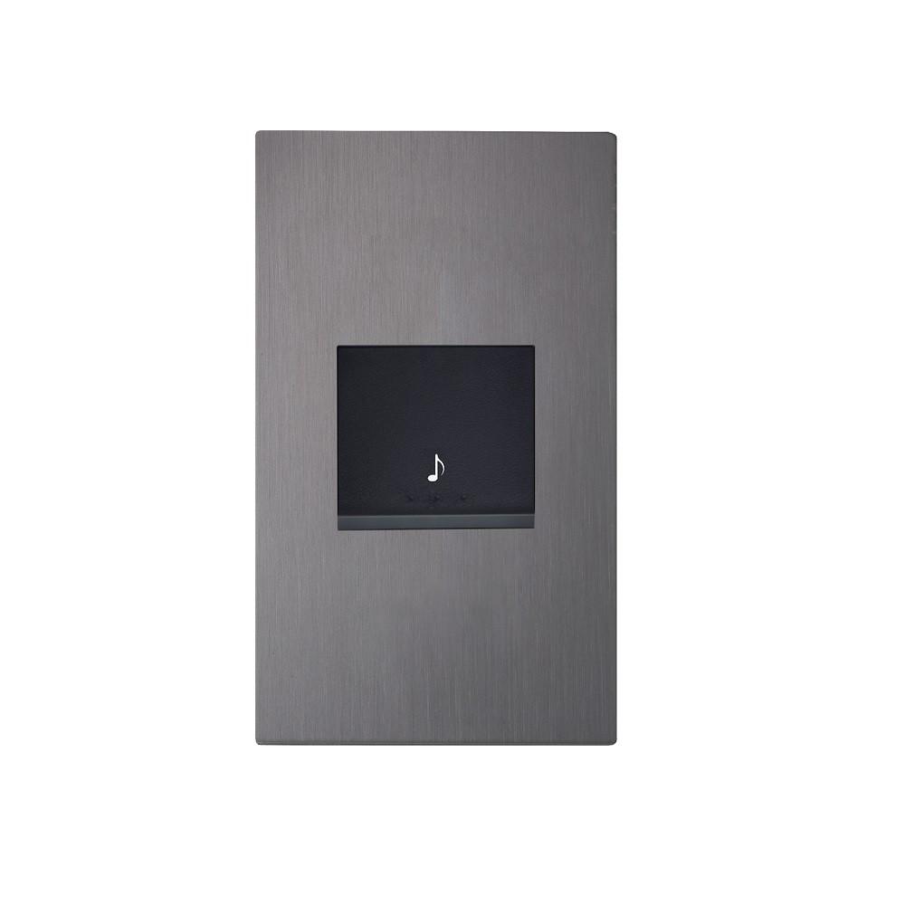 【JYE】月光摩登款 電鈴壓扣蓋板組-直式(共4色)《屋外生活》