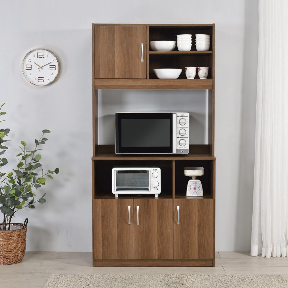 櫥櫃收納/櫥櫃/廚房 TZUMii蓋亞高廚房櫃-質感棕