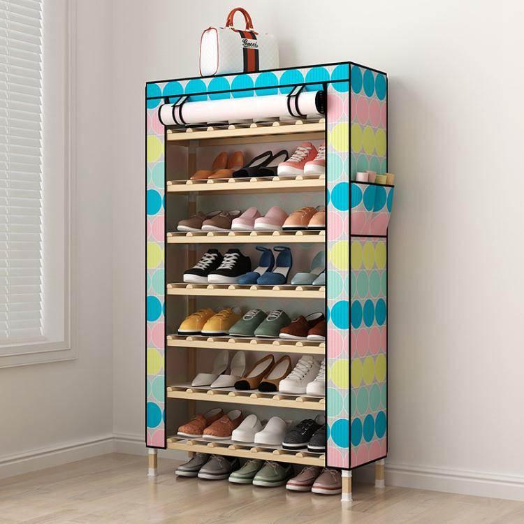 鞋架簡易鞋柜防塵多層家用經濟型室內好看放門口收納神器木窄小鞋架子