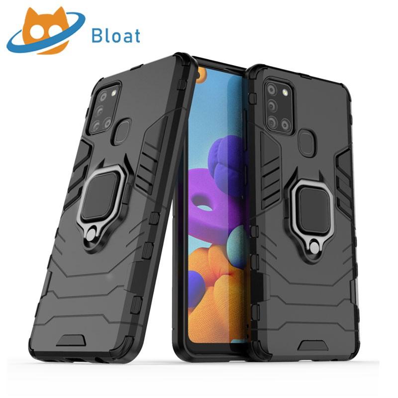 鎧甲 三星 Samsung Galaxy A21s 保護殼 車載磁吸 指環支架 手機殼 防摔減震 保護套 硬殼Bloat
