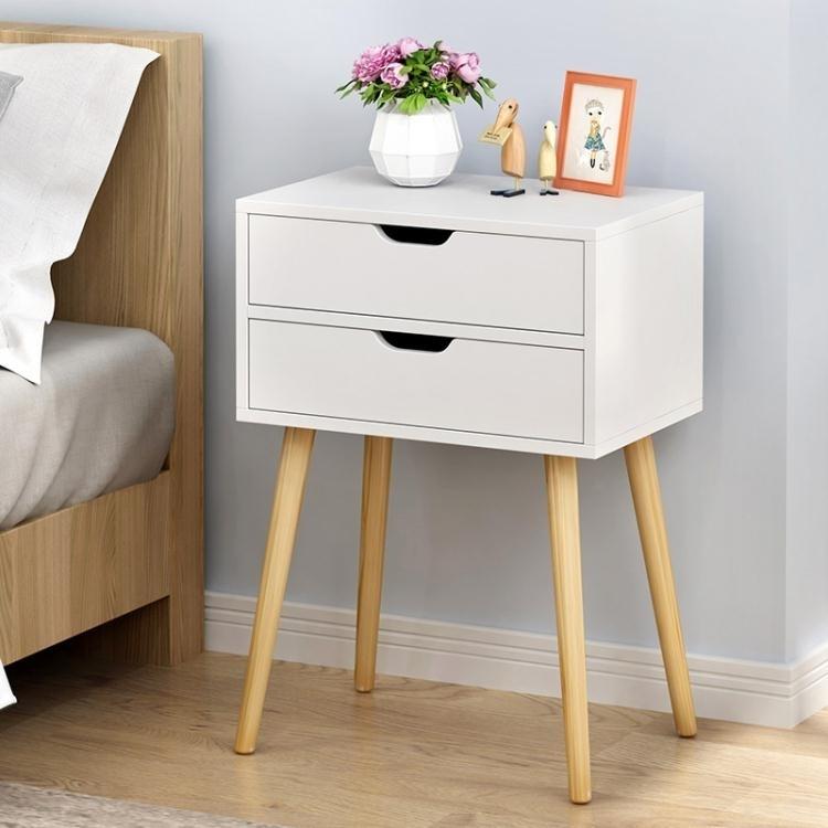 北歐床頭櫃多功能臥室儲物收納櫃簡約現代床邊櫃簡易邊櫃創意角櫃ATF 全館特惠8折
