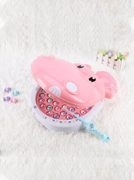 兒童多功能磁性釣魚竿玩具益智智力開發一寶寶3歲半女孩2小孩動腦