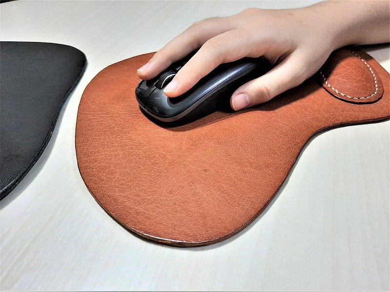 手工真皮鼠標墊 // 皮革滑鼠墊 // 可專屬刻字 // 手工縫製