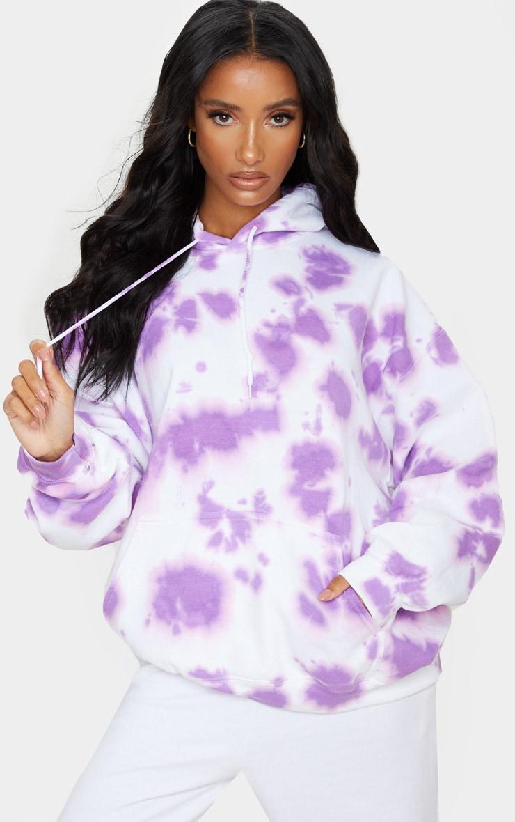 Lilac Tie Dye Oversized Hoodie