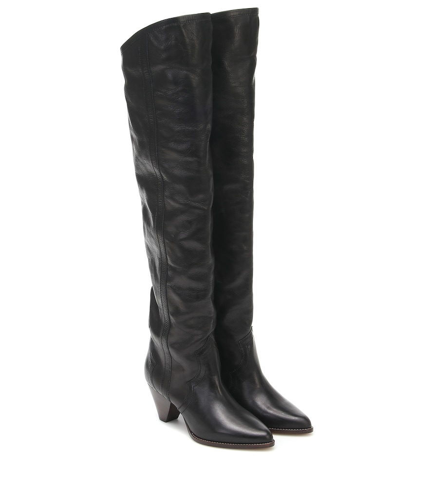 Remko leather over-the-knee boots
